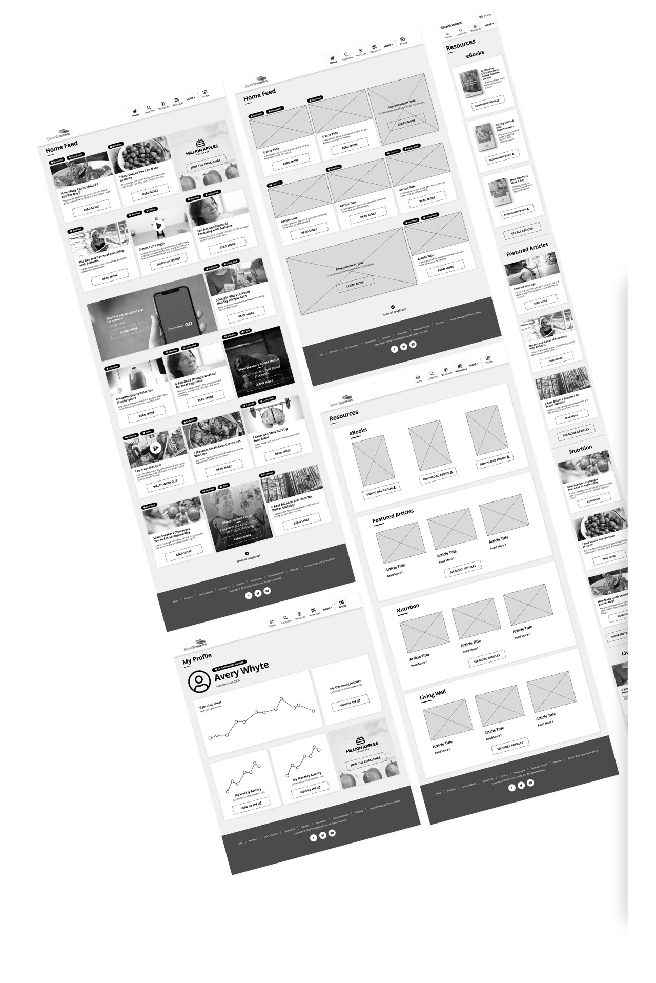 dashboard wireframes